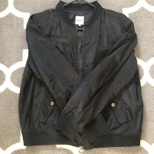 Black Kensie bomber jacket sz Large